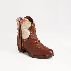 Sam Edelman 'Shane' Leather Cowboy Bootie Sz 9.5